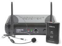 Vonyx STWM711H Draadloze headset microfoon VHF