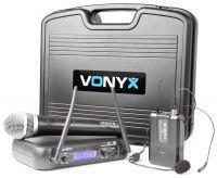 Vonyx WM73C Draadloze microfoon UHF - Dubbel