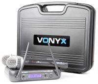 2e keus - Vonyx WM73 Draadloze microfoon UHF - Dubbel