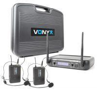 Vonyx WM73H Draadloze microfoonset UHF - dubbele headset