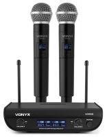 Vonyx WM82 draadloze microfoonset met twee UHF handmicrofoons