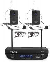 Vonyx WM82 draadloze microfoonset met twee UHF bodypacks en headsets