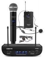 Vonyx WM82C draadloze UHF microfoonset met handmicrofoon en headset