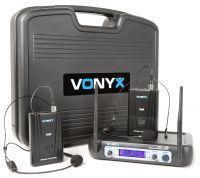 Vonyx WM512H Draadloze microfoon VHF - Dubbel