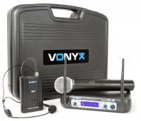 Vonyx WM512C Draadloze microfoon VHF - Dubbel