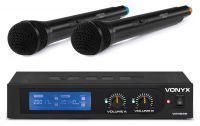 Vonyx WM522 draadloze microfoonset 2-kanaals VHF