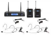 Vonyx WM62B dubbele draadloze headset microfoon UHF - 16 kanaals