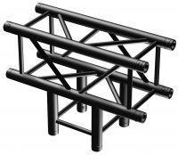 BeamZ Truss P30-T35B vierkante truss zwart T-stuk 3-weg