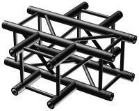 BeamZ Truss P30-C41B vierkante truss zwart 4-weg kruis