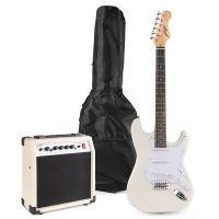 Johnny Brook JB402 elektrische gitaar starterset met o.a. 20W versterker - Wit