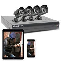 SkyTronic beveiligingscamera voor buiten (set van 4 camera's & 500GB schijf)