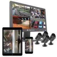 SkyTronic beveiligingssysteem met monitor en 4 camera's