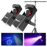 BeamZ Wildflower Set van 2 LED Scanners met Standaard
