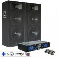 SPL2000MP3 DJ PA versterker met ingebouwde USB / MP3 / SD Speler met een paar SM215 luidspreker boxen 2400W