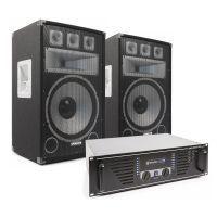 "Vonyx TX15 Speakerset 15"" 2000W met SkyTec PRO1500 versterker"