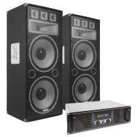 """Vonyx TX215 Speakerset 2x 15"""" 3000W met SkyTec PRO2000 versterker"""