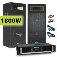 SkyTec SM210 MKII PA Luidspreker en Versterker combinatie 1800W