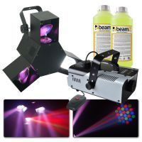 BeamZ Triple flex LED Effect en S900 rookmachine met 2 liter rookvloeistof
