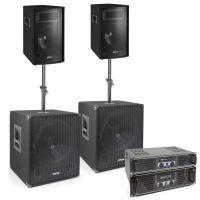 """Vonyx 1700W Subwoofer Set """"Super Bass 1700"""" met Versterkers"""