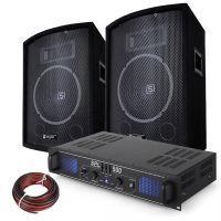 SkyTec 500W PA DJ Disco set met Versterker en Luidsprekers