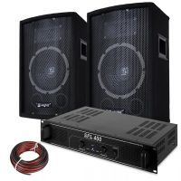 SkyTec DJ Luidspreker en Versterker combinatie 400W