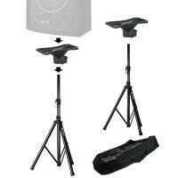 Vonyx Speakerstandaards met Plateaus - Complete set