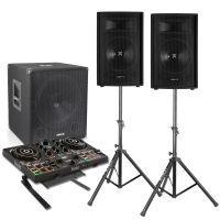 Vonyx 2.1 complete live set 1100 watt met Hercules Inpulse 200 controller en standaard