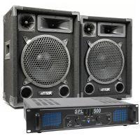 MAX Complete 500W Speakerset MAX10 met Versterker