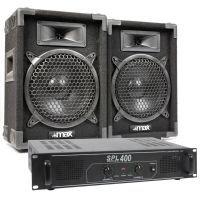 Max Complete 400W Speakerset MAX8 met Versterker