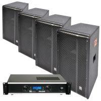 Power Dynamics Professionele 800W RMS horeca geluidsset voor café, feestzaal etc.