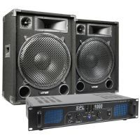 MAX Complete 1000W Speakerset MAX15 met Versterker