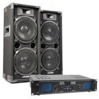 MAX Complete 1000W Speakerset MAX28 met Versterker