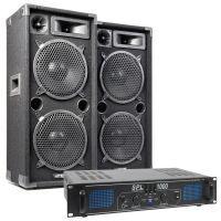 MAX Complete 1000W Speakerset MAX210 met Versterker