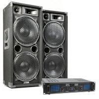 MAX Complete 1500W Speakerset MAX212 met Versterker