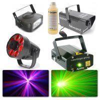 BeamZ lichtset met Rookmachine, LED lichteffect, Laser & Strobo