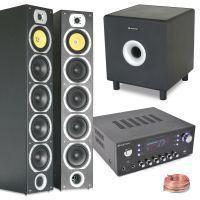 SkyTronic 2.1 Stereo HiFi Set met Speakers, Versterker en Subwoofer