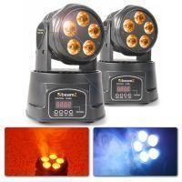 BeamZ Set van 2 MHL90 LED Movingheads Wash 5x 18W met RGBAW-UV LED's