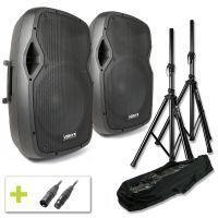 Vonyx AP1500A actieve 1600W speakerset met standaards