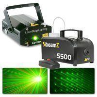 BeamZ lichtset met S500 rookmachine en laser