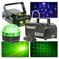 Beamz licht en laser disco set (met Jelly Ball, laser en rookmachine)