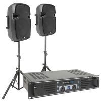 Vonyx SPJ1000 complete geluidsset 600W incl. standaards