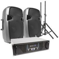 Vonyx SPJ1500 complete geluidsset 1200W incl. standaards