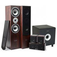 """SkyTronic 5.1 home cinema surround walnoot speakerset 1300W met 8"""" subwoofer"""