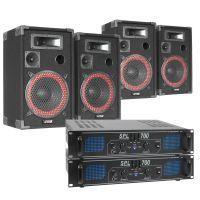 SkyTec XEN 1400W Dubbele geluidsinstallatie