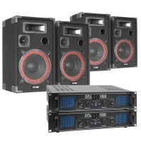 SkyTec XEN 2000W Dubbele geluidsinstallatie