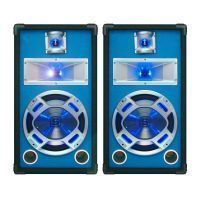"SkyTec blauw PA Speakerset 10"" 2 x 400W met LED Verlichting"