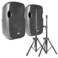 Vonyx AP800 actieve speakerset met standaards en kabel