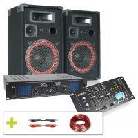 SkyTec 1000W Bluetooth en USB Complete DJ Geluidsinstallatie
