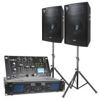 SkyTec Complete 700W DJ Bluetooth Geluidsinstallatie met Standaards