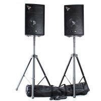 Vonyx speakerset - Twee SL10 speakers met standaards en kabel - 1000W